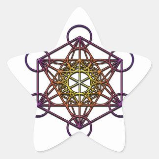 Símbolo del cubo de Metatron (pendiente púrpura Calcomanía Forma De Estrella