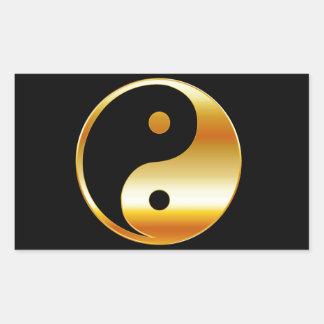 Símbolo del daoism Ying y de Yang del taoism Rectangular Pegatina