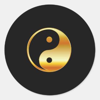 Símbolo del daoism Ying y de Yang del taoism Pegatinas Redondas