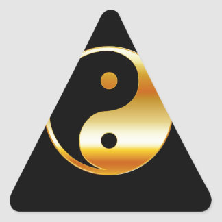 Símbolo del daoism Ying y de Yang del taoism Calcomanías Trianguladas Personalizadas