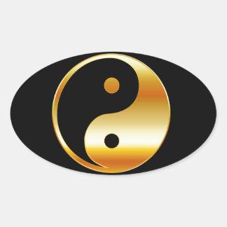 Símbolo del daoism Ying y de Yang del taoism Pegatinas De Óval