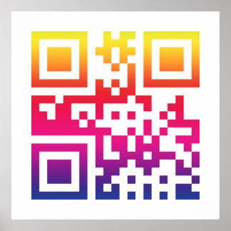 Símbolo del ☮ de la paz -- Código de QR Posters
