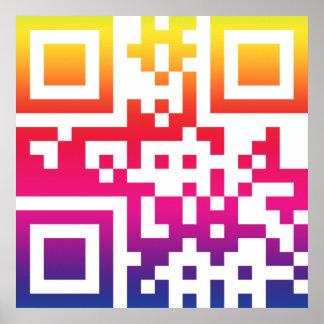 Símbolo del ☮ de la paz -- Código de QR Impresiones