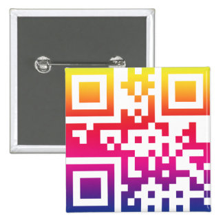 Símbolo del ☮ de la paz -- Código de QR Pin Cuadrada 5 Cm