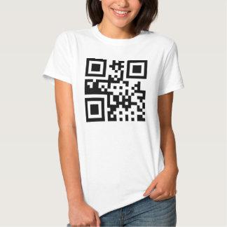 Símbolo del ☮ de la paz -- Código de QR Remera