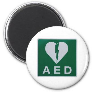 Símbolo del Defibrillator del AED Imán Redondo 5 Cm