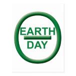Símbolo del Día de la Tierra Postales
