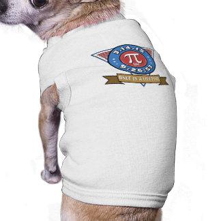 Símbolo del día del pi para las camisetas sin playera sin mangas para perro