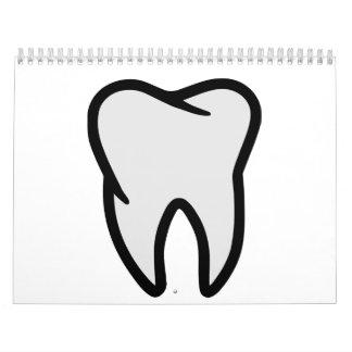 Símbolo del diente calendarios