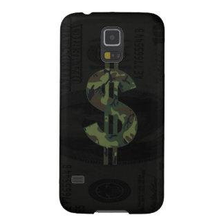 Símbolo del dinero de Camoflage Carcasa Galaxy S5