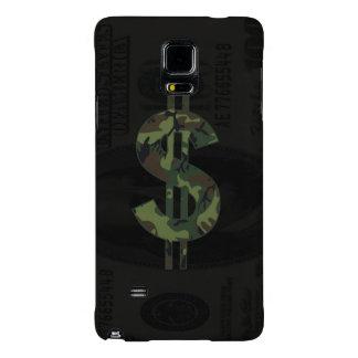 Símbolo del dinero de Camoflage Funda Galaxy Note 4