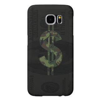 Símbolo del dinero de Camoflage Funda Samsung Galaxy S6