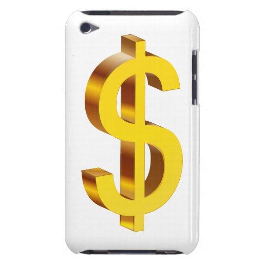 Símbolo del dólar del oro iPod touch Case-Mate protectores