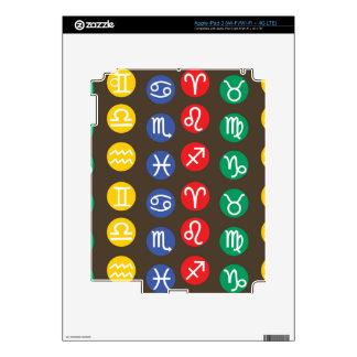 Símbolo del elemento del zodiaco iPad 3 pegatinas skins