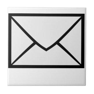 Símbolo del email azulejo cuadrado pequeño