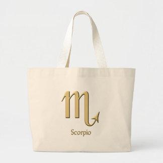 Símbolo del escorpión bolsa de mano
