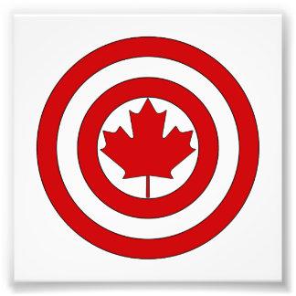 Símbolo del escudo de capitán Canadá Fotografía