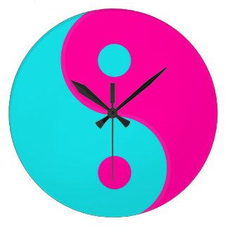 Símbolo del espiritual de Yin Yang Relojes De Pared