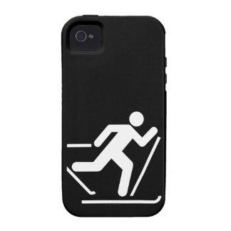 Símbolo del esquí del campo a través vibe iPhone 4 carcasa