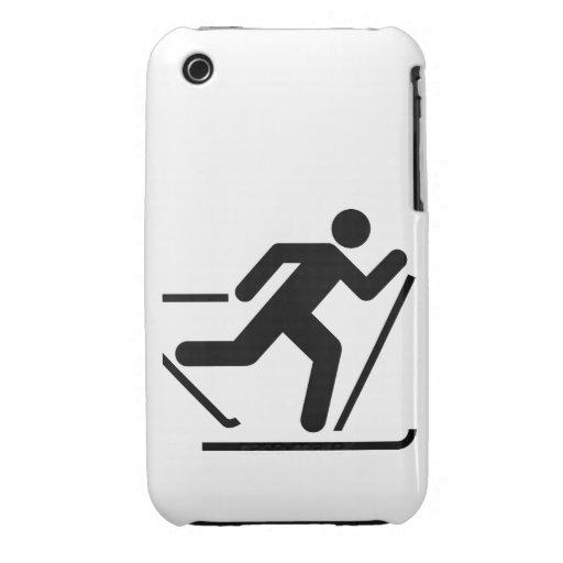 Símbolo del esquí del campo a través iPhone 3 cobreturas