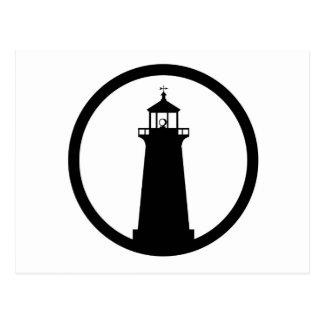 símbolo del faro tarjeta postal