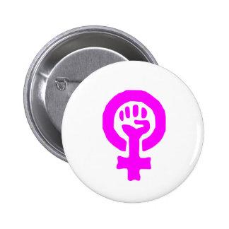 Símbolo del feminismo pin redondo 5 cm