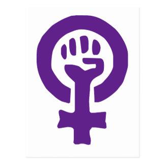 Símbolo del feminismo postal