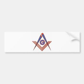 Símbolo del Freemason Etiqueta De Parachoque