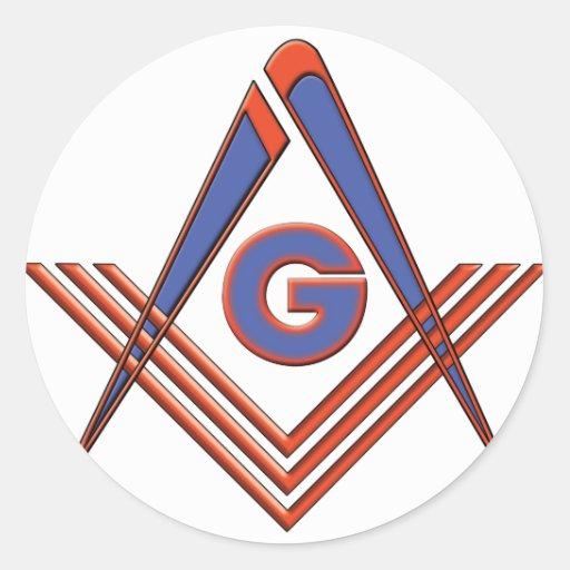 Símbolo del Freemason Pegatina Redonda
