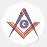 Símbolo del Freemason Pegatinas Redondas