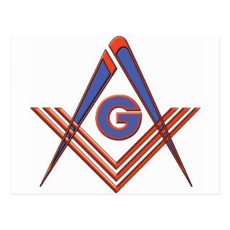 Símbolo del Freemason Postales