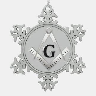 Símbolo del Freemasonry Adorno De Peltre En Forma De Copo De Nieve
