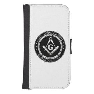 Símbolo del Freemasonry Fundas Billetera De Galaxy S4