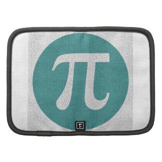 Símbolo del friki pi de la matemáticas, círculo planificador