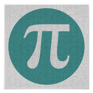 Símbolo del friki pi de la matemáticas, círculo póster