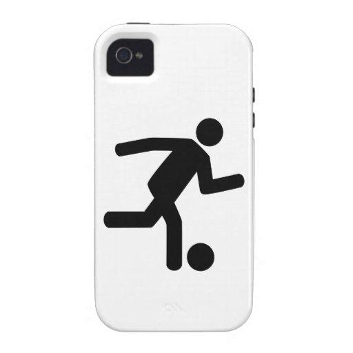 Símbolo del fútbol del fútbol Case-Mate iPhone 4 funda