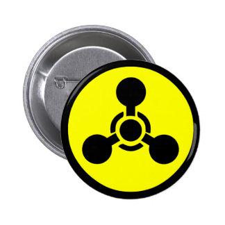 Símbolo del gas del Sarin Pin Redondo De 2 Pulgadas