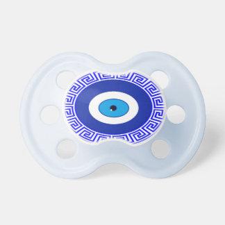 símbolo del Griego del ojo del Pacificador-mal Chupetes Para Bebes