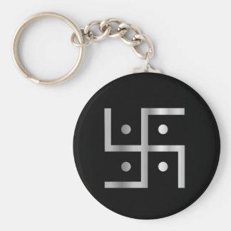 Símbolo del Hinduism Llavero Redondo Tipo Pin