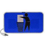 Símbolo del hombre de la basura (añada la foto) portátil altavoz