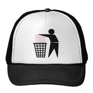 Símbolo del hombre de la basura (añada la foto) gorro de camionero