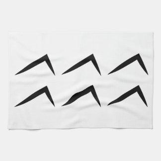 Símbolo del horóscopo de la astrología del acuario toallas de cocina