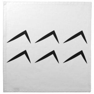 Símbolo del horóscopo de la astrología del acuario servilleta imprimida