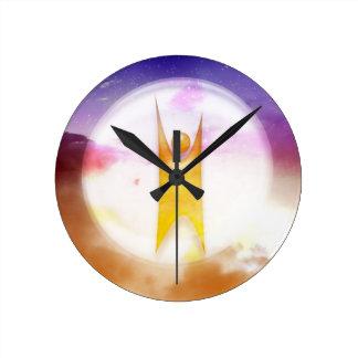 Símbolo del humanismo relojes de pared