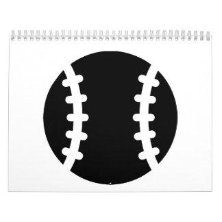 Símbolo del icono del béisbol calendario de pared