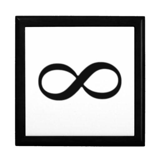 Símbolo del infinito caja de joyas