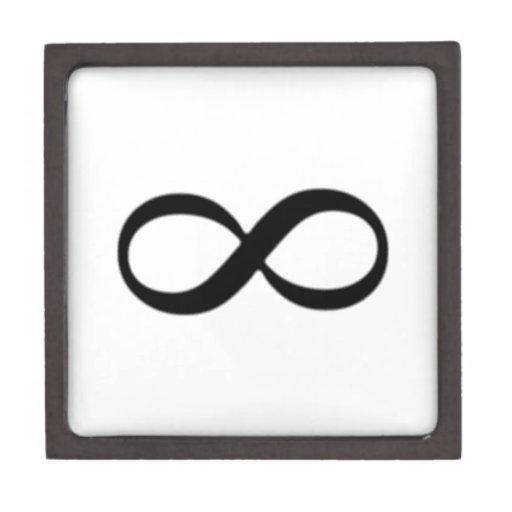 Símbolo del infinito caja de recuerdo de calidad