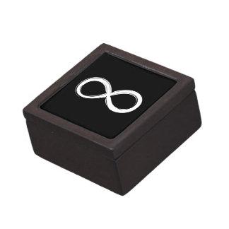 Símbolo del infinito cajas de joyas de calidad