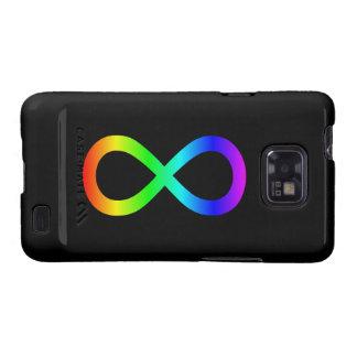 Símbolo del infinito del arco iris samsung galaxy SII funda