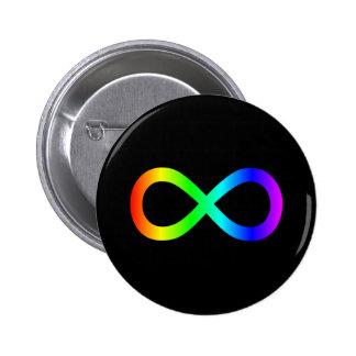Símbolo del infinito del arco iris pins